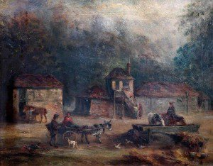 Walter William Acock - Granary and Stables of the 'Old Swan and Sugar Loaf' Inn