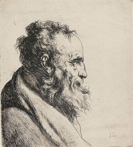 Jan Lievens - Bust of an Old Bearded Man, Facing Right