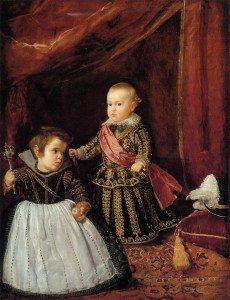Diego Velázquez - Prince Baltasar Carlow with a Dwarf