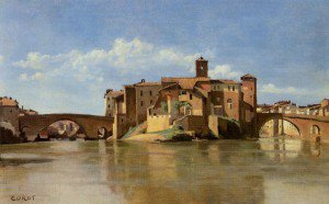 After Jean-Baptiste-Camille Corot - Rome - The Island of San Bartolomeo
