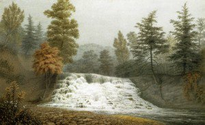 George Harvey - An Autumnal Fog, A Cataract on the Estate of R. Donaldson Esqr. Dutchess County New York