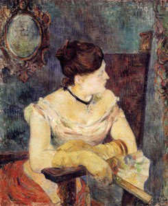 Paul Gauguin - Madame Mette Gauguin in an Evening Dress
