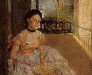 Edgar Degas - Woman Seated on a Balcony