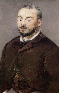 Édouard Manet - Portrait of the Composer Emmanual Chabrier