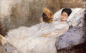 Berthe Morisot - Portrait of Madame Hubbard