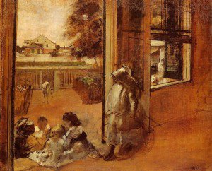 Edgar Degas - Children on a Doorstep