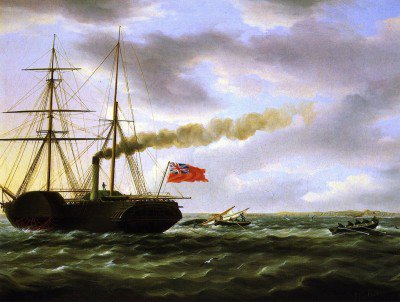 Buttersworth, James Edward - Unidentified British Steamer Rescuing Crew of Overset Small Blat
