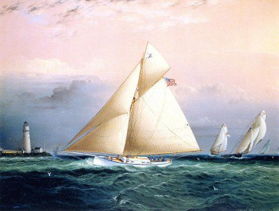 Buttersworth, James Edward - Yacht Race off Boston Light