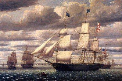Lane, Fitz Hugh - Clipper Ship 'Southern Cross' Leaving Boston Harbor