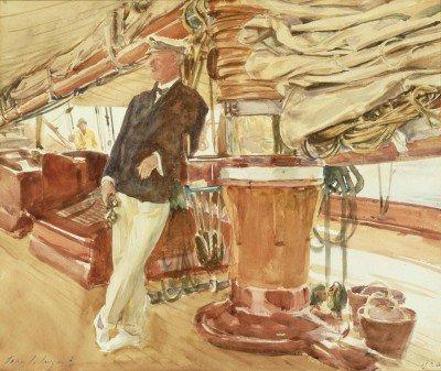 Sargent, John Singer - Captain Herbert M. Sears on deck of the Schooner Yacht Constellation
