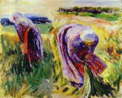 Borisov-Musatov, Victor - Reapers. Sketch