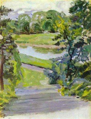 Borisov-Musatov, Victor - Spring Scene. Sketch