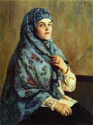 Surikov, Vasily - Portrait of P. I. Scherbatova
