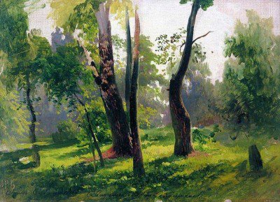 Vasilyev, Feodor - Trees. Study