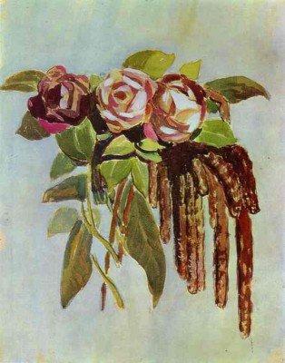 Borisov-Musatov, Victor - Roses and Catkins