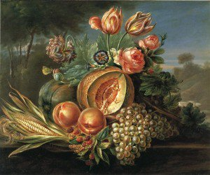 Cornelius de Beet - Still Life with Fruit and Flowers