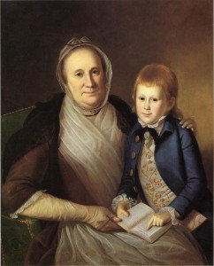 Charles Willson Peale - Mrs. James Smith and Grandson