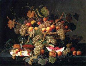 Severin Roesen - Still Life with Fruit