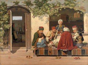Martinus Rørbye - Orientals at a Game of Chess (Orientalere ved et parti skak)