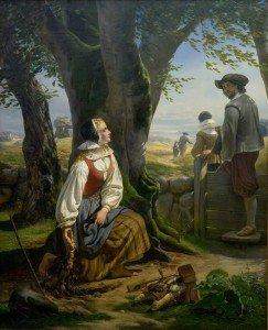 Niels Simonsen - Kirsten Svendsdatter Finds the Gold Horn at Gallehus on 20th July 1639