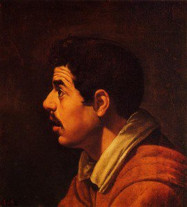 Diego Velázquez - Head of a Young Man in Profile