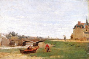 Stanislas Lépine - Landscape with a Bridge