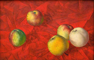 Petrov-Vodkin, Kuzma - Apples on a Red Cloth