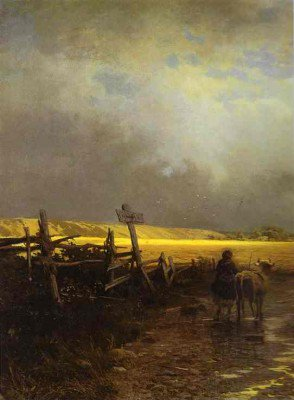 Vasilyev, Feodor - After a Rain. Country Road. Detail