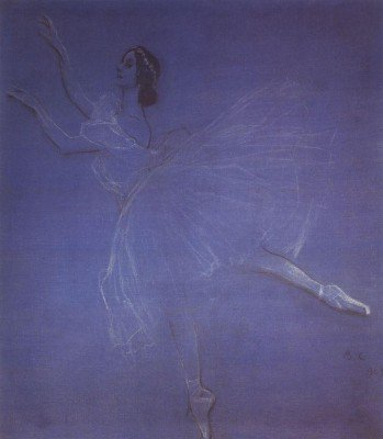 Serov, Valentin - Anna Pavlova in the Ballet Sylphyde