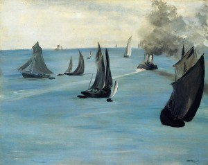 Édouard Manet - Steamboat Leaving Boulogne