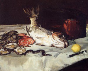 Édouard Manet - Still Life with Fish