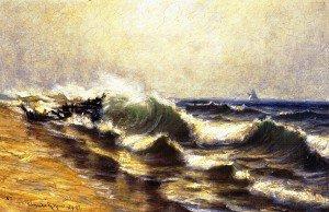 Claude Raguet Hirst - Seascape with Ships