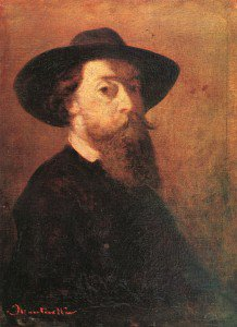Adolphe-Joseph-Thomas Monticelli - Self-Portrait with Felt Hat