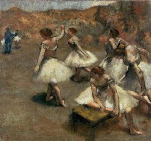 Edgar Degas - Dancers on a Stage