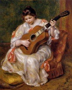 Pierre Auguste Renoir - Woman Playing the Guitar