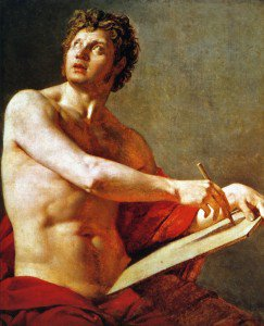 Jean-Auguste-Dominique Ingres - Academic Study of a Male Torse