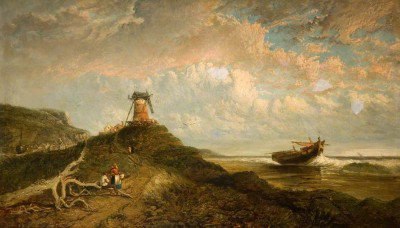 Holland, James - Windmill and the Sea