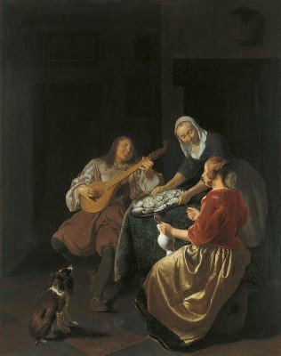 Ochtervelt, Jacob - Oyster Eaters