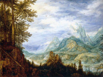 Savery, Roelandt - Mountainous Landscape with a Castle