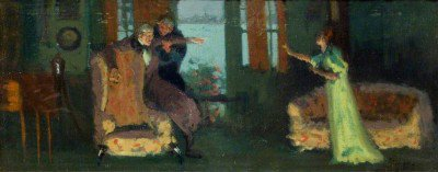 Sickert, Walter Richard - A scene from 'Sowing the Wind'