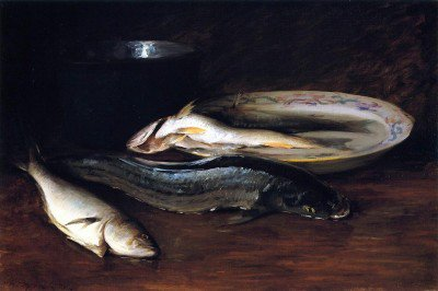 Chase, William Merritt - Still LIfe with Fish
