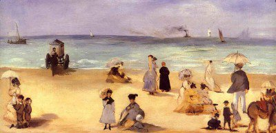 Manet, Edouard - On the Beach at Boulogne