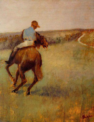 Degas, Edgar - Jockey in Blue on a Chestnut Horse