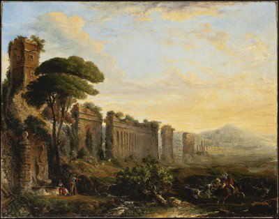 Brown, George Loring - View of an Aqueduct in the Campagna near Rome