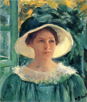 Cassatt, Mary - Young Woman in Green, Outdoors in the Sun
