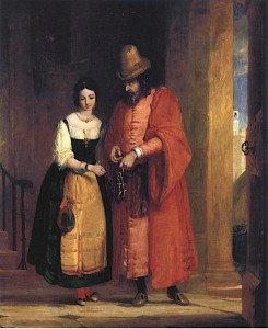 Gilbert Stuart Newton - Shylock and Jessica, The