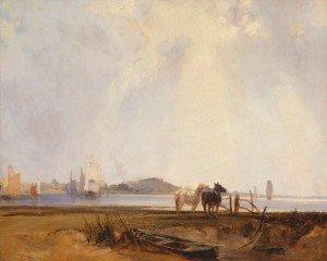 Richard Parkes Bonington - Landscape near Quilleboeuf