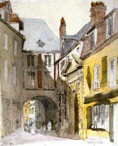 David Cox - Place St. Barthélemy, Rouen