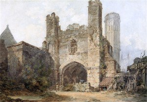 Joseph Mallord William Turner - Gate of St Augustine's Monastery, Canterbury