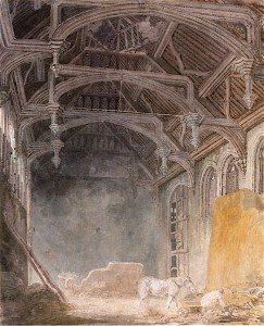 Joseph Mallord William Turner - Interior of King John's Palace, Eltham